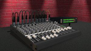 mixer peakmeter element3d obj