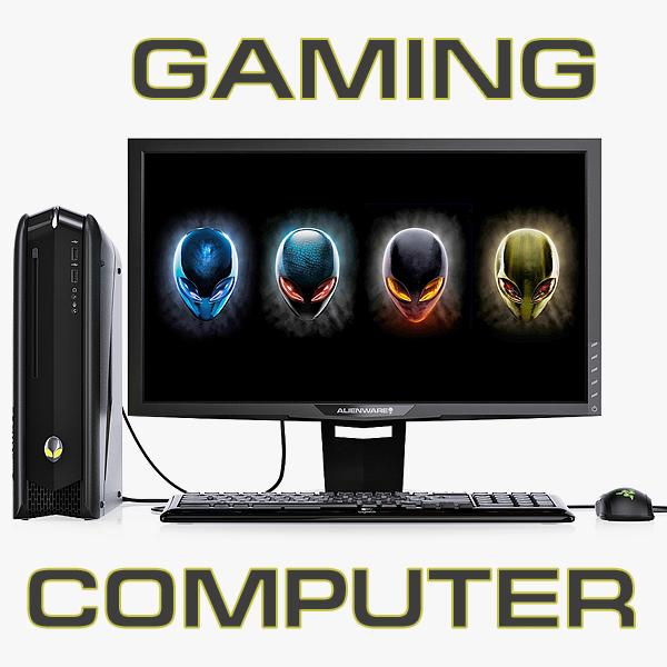 dell alienware gaming computer 3d max