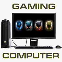 dell alienware gaming computer 3d model