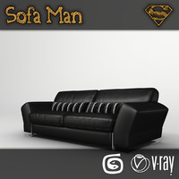 3d dakota 1 sofa model