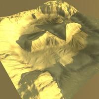 desert terrain 3d obj