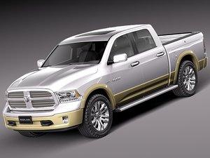 3d model of 2012 2013 dodge pickup