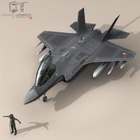 3d model pilot - air force