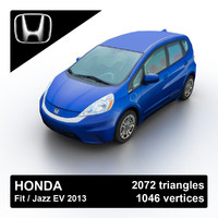 3d 2013 honda fit jazz model