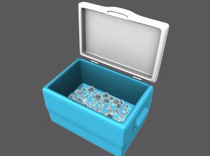 3d ice cooler model