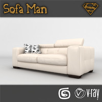 3d model massachusetts sofa