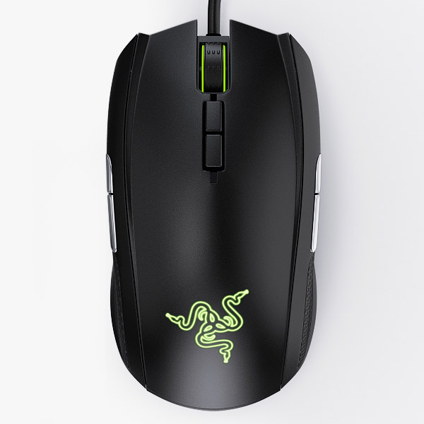 3d model mice razer taipan