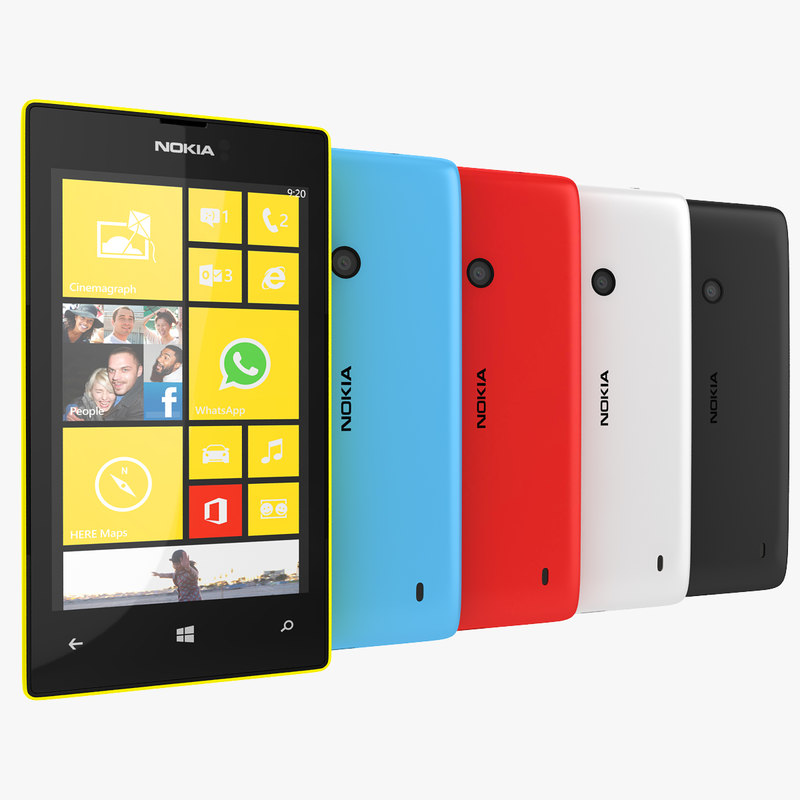 3d nokia lumia 520 red