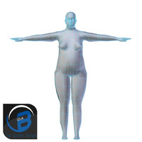 Obese Woman Base Mesh LOW POLY