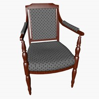 chair padding 3d 3ds