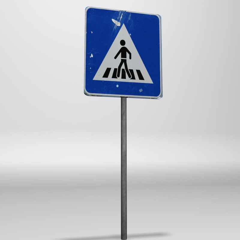 3ds max parking sign