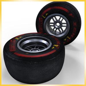 3d model 2013 formula 1 pirelli