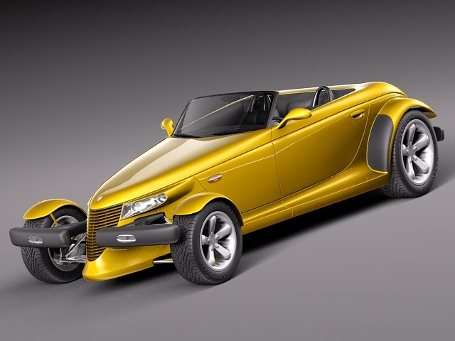 plymouth stock prowler 1997 3d model
