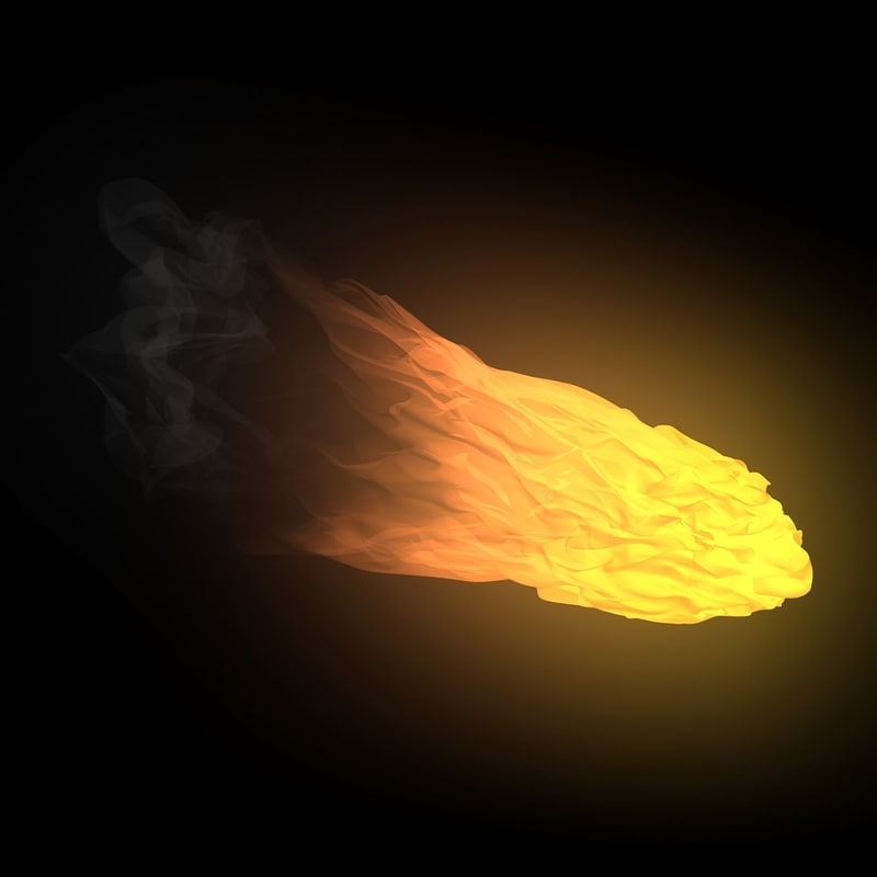 3d model animating fireball