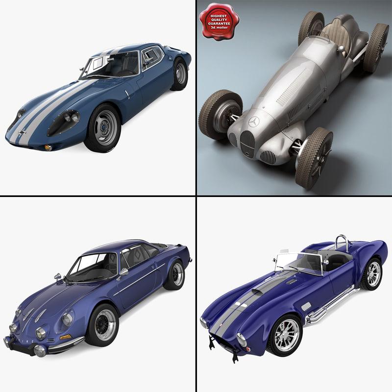retro cars 13 3d max