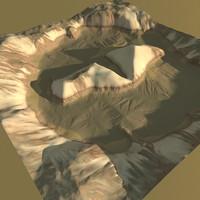 terrain snow snowy 3d model
