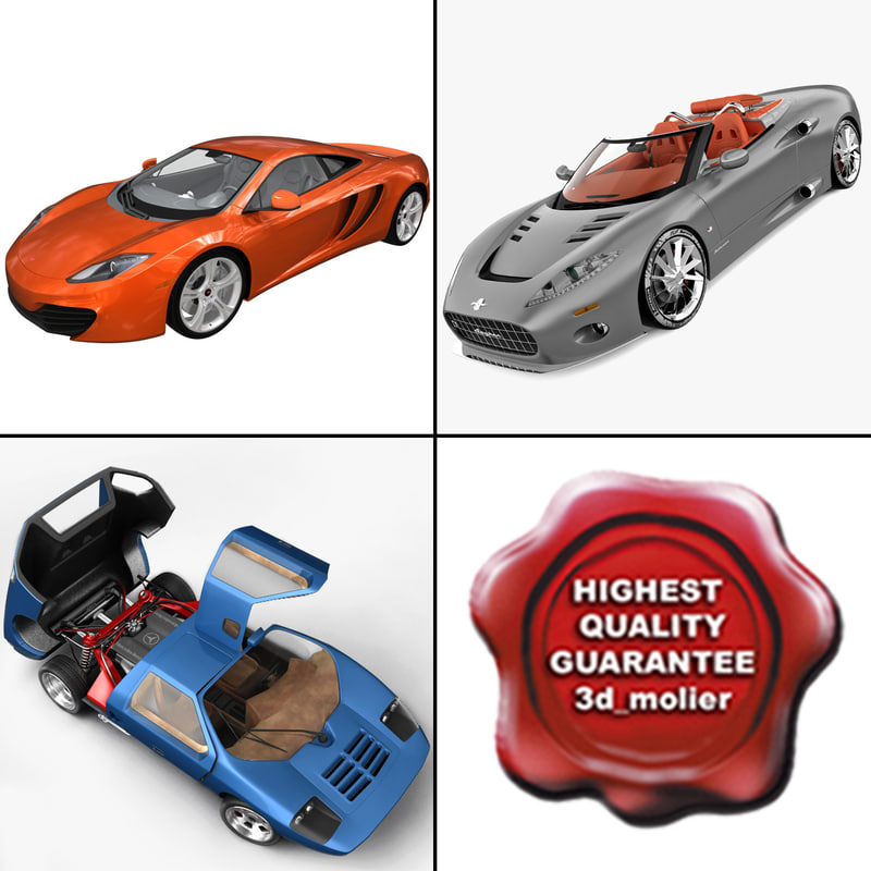 3d supercars 3 model