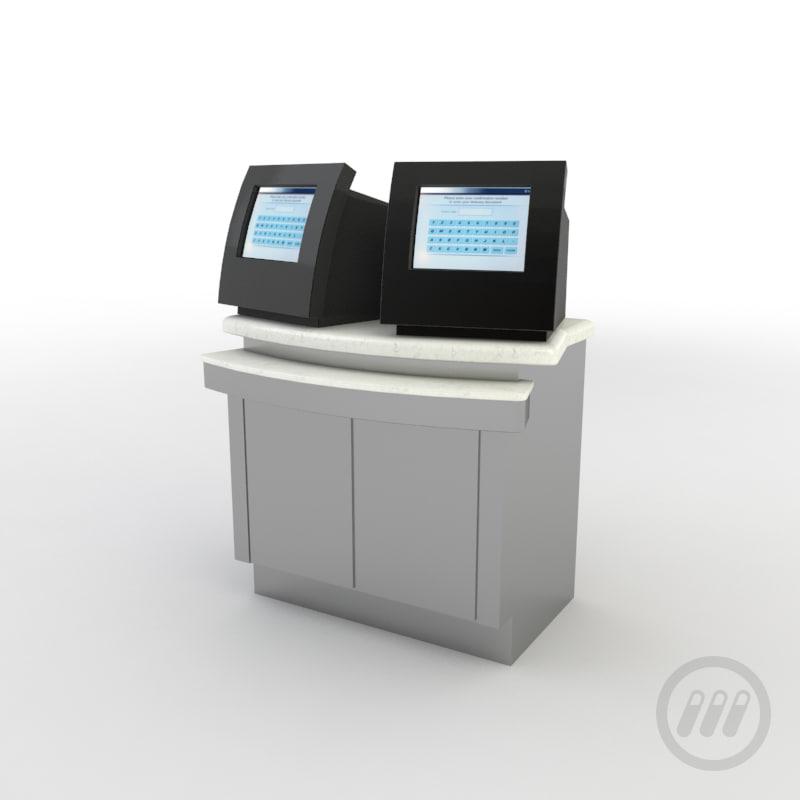 - ticketing kiosk 3d max