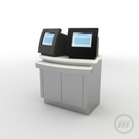 - ticketing kiosk 3d max