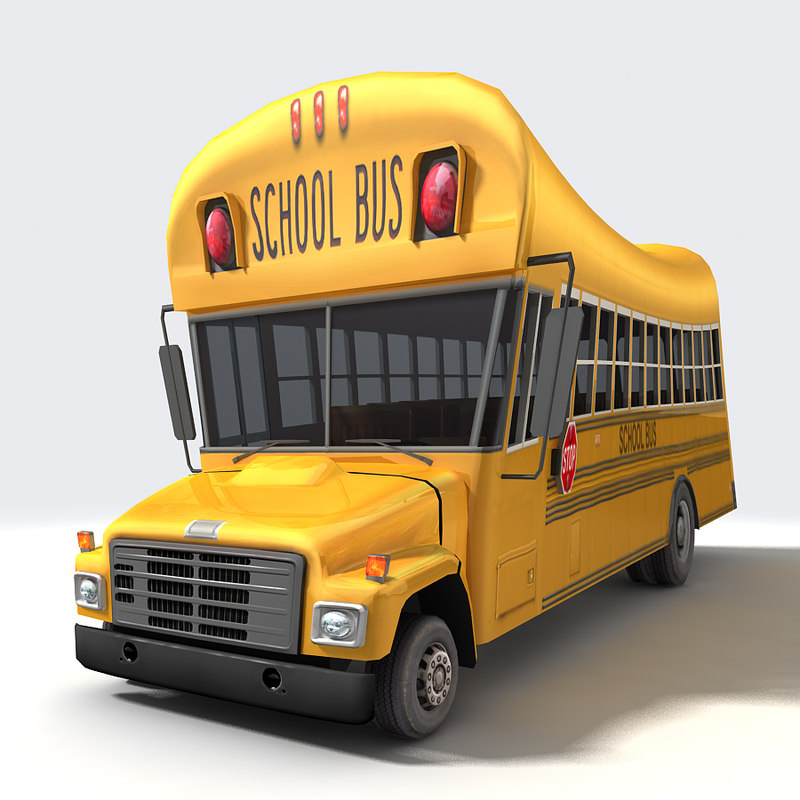 3ds max cartoon school bus