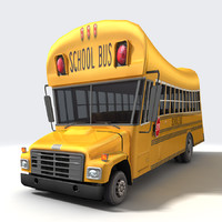 3ds max cartoon school bus