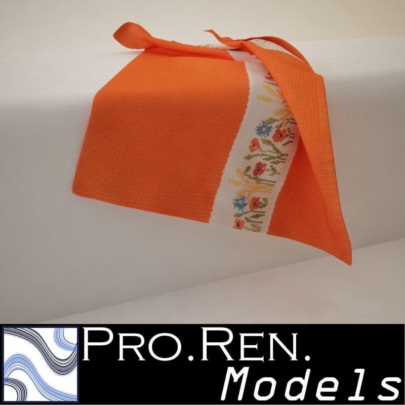 max orange towel -