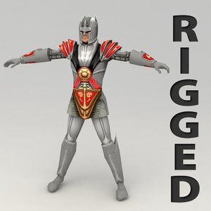 3d max rigged fantasy hero