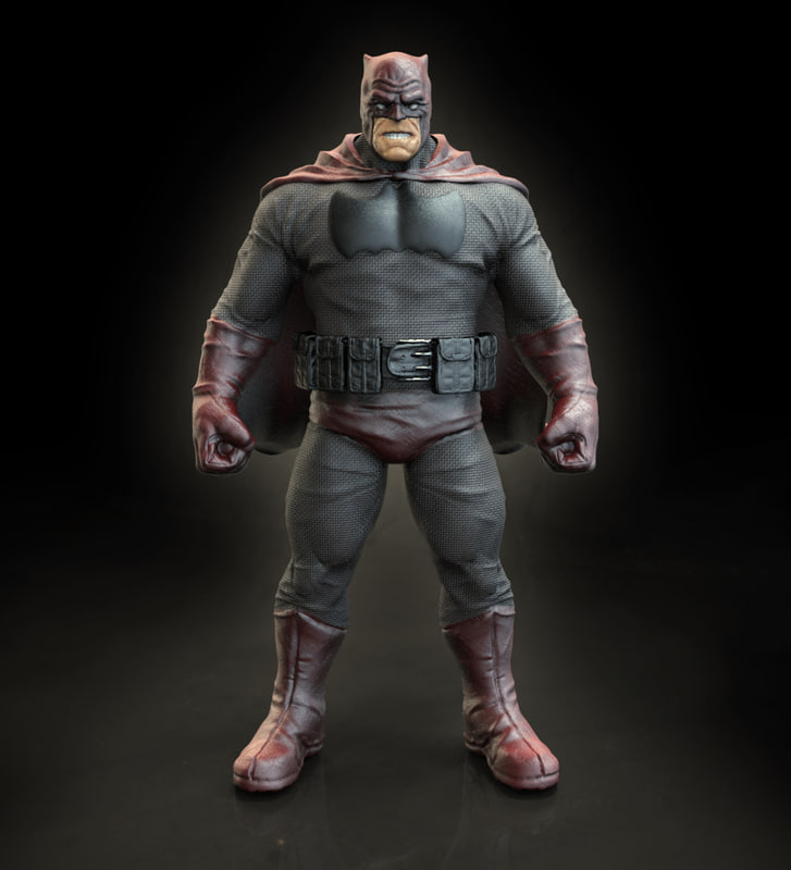 statue bat man 3d obj