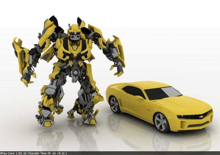 3d model bumble bee