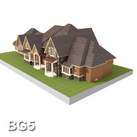 north american bungalow 3d model