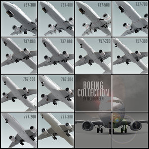 3d model boeing planes