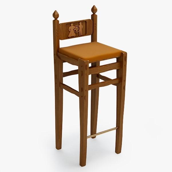 3dsmax bar stool