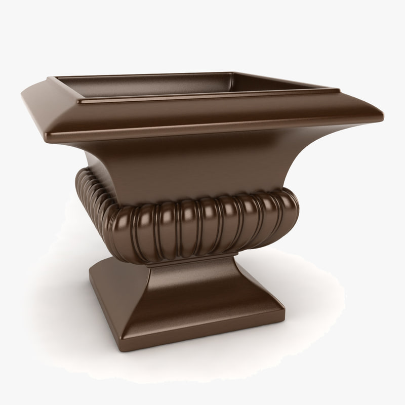 3ds fluted square urn