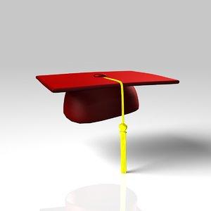 3d graduation cap model