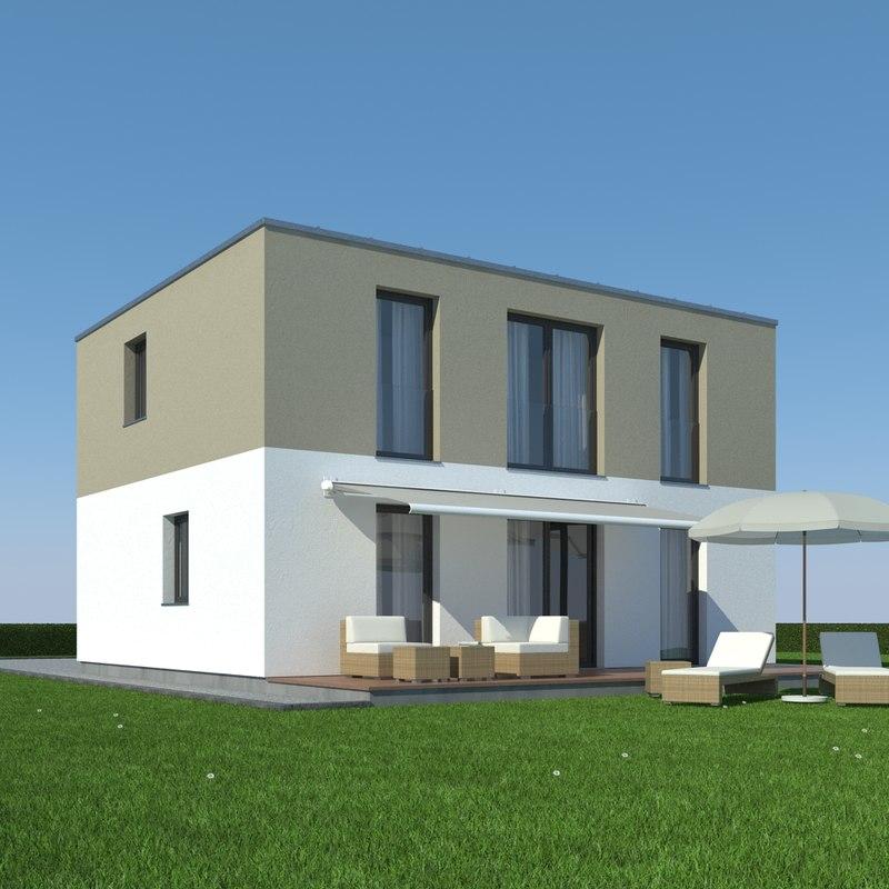 house grass modelled 3d max