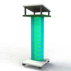 stand computer desk 3d max