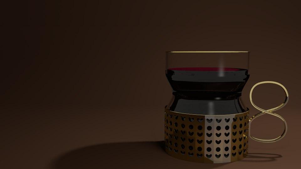 christmas drink 3d model