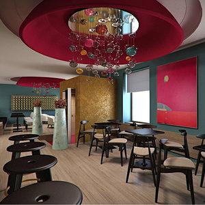 max scene interior bar restaurant