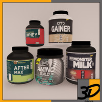 3d supplement pack 6 model