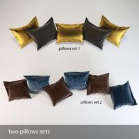3d realistic pillows set
