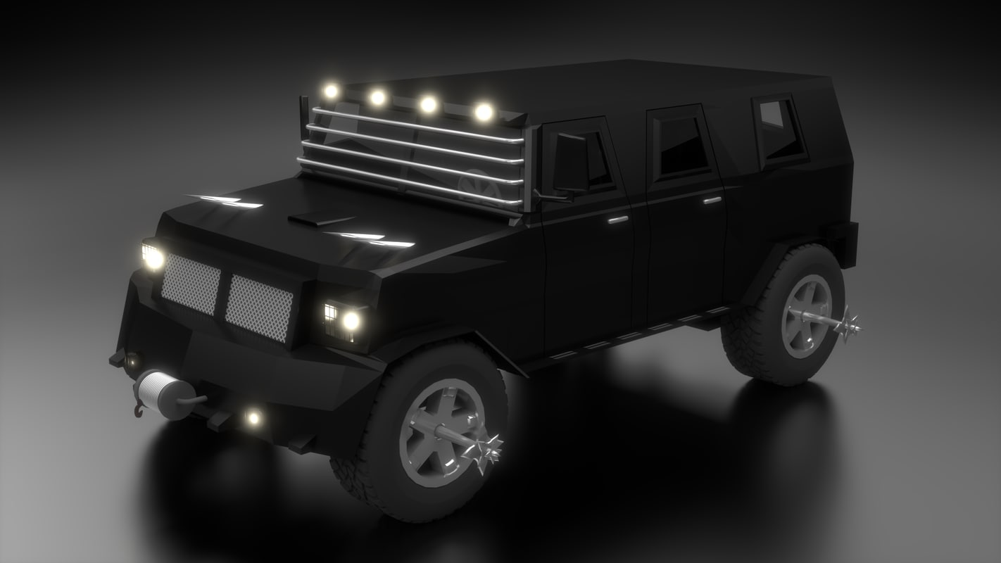 3ds max zombie truck