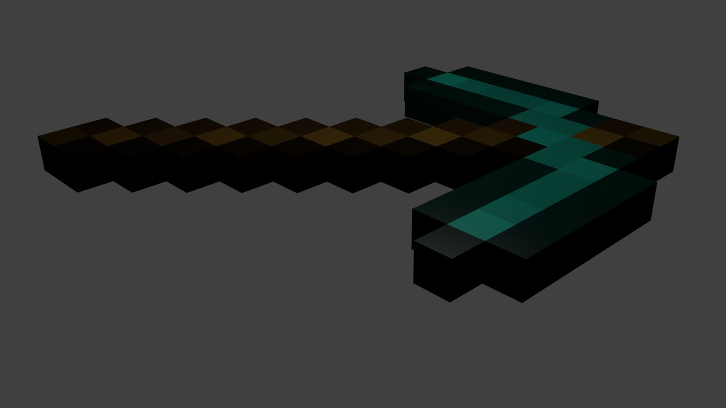 free minecraft pickaxe 3d model