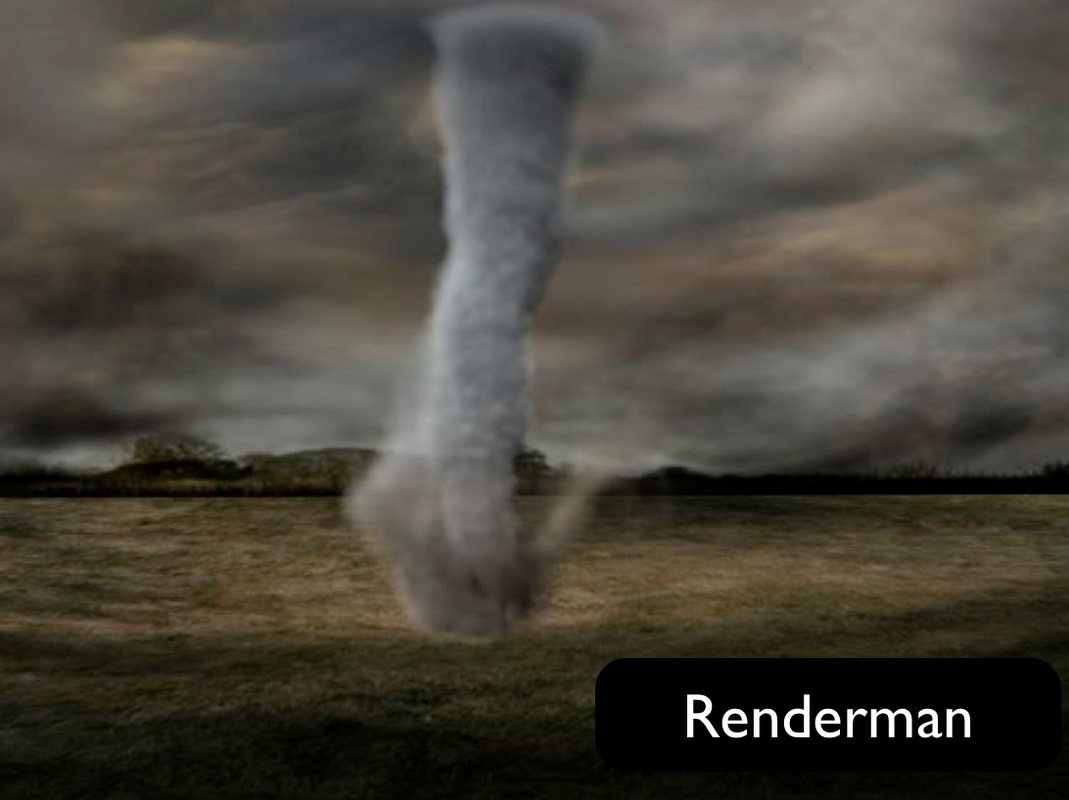 3d simulated animation tornado model