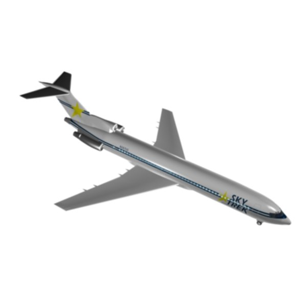 3d model sky trek international airlines