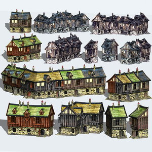 building fantasy cityscapes city max