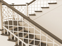3d model of wood stairway