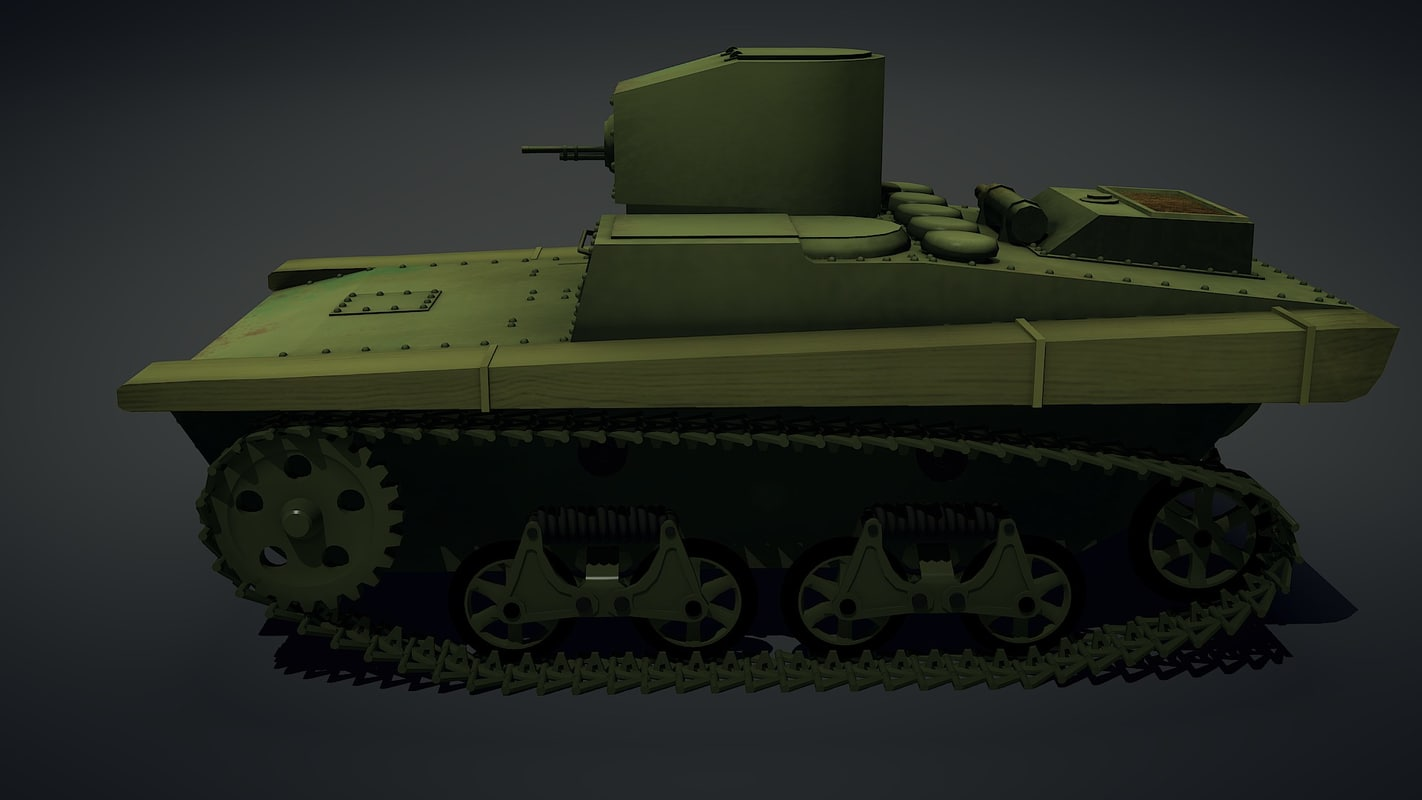 tank t37a 3d fbx