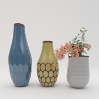 3ds max vases flower architectural