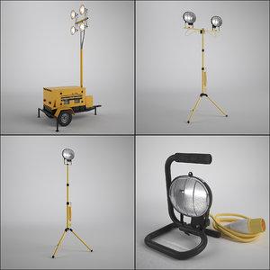 work light set 3d model