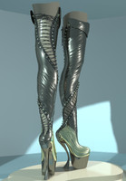 3d sexy boots model